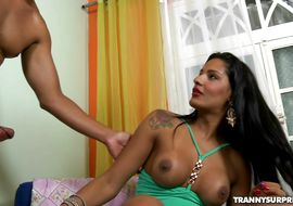 Fresh trans Isabelle Marinho got fucked in the bum and one of the most intensive orgasms ever