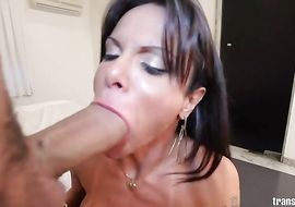 Donga loving foxy busty tranny Gabriela Martins had anal sex for the 1st time