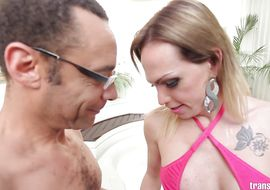 Pecker loving alluring tranny Alessandra Leite is having anal sex for the 1st time and enjoying it a lot