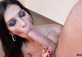 Charming tranny Renata Araujo is having an anal dance affair while no one is watching