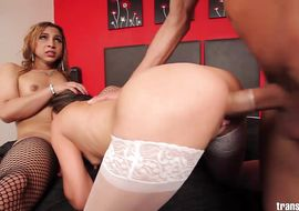 Appetizing latin brunette Irina Chanell got his booty fucked hard until he had enough of it for the day