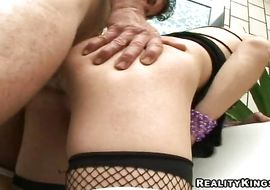 Alluring transexual Patricya got his tight arse drilled the way he likes