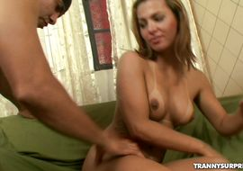 Meat rocket loving vicious latin Isabella Madeiro with perky nipples is kneeling and giving multiple blowjobs