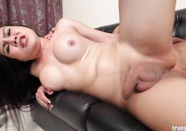 Lusty eastern Anna got fucked in the wazoo until he started moaning and screaming from pleasure
