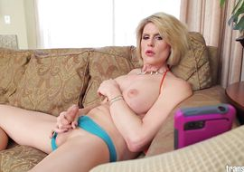 Startling transsexual Delia Delions with impressive tits got his every single day dose of rough fuck