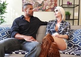 Wonderful golden-haired Domino Presley decided to try something new and spise up his sex life with anal pleasure