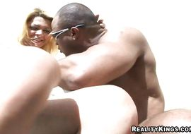 Nasty latin Gisele Lemos is getting his tight butt pounded in front of the camera