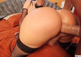Captivating Carolina Estevez got a stick up his tight arse and then he sucked it good